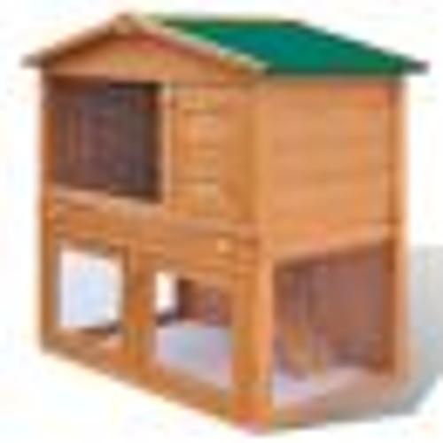 Coelho gaiola ao ar livre para pequenos animais de estimação 3 portas de madeira