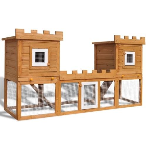 Gabbia due casette per Conigli da esterno Grande