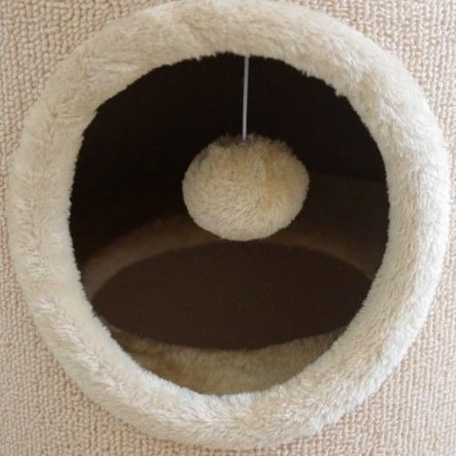 Tiragraffi a casetta per gatti 100 cm beige