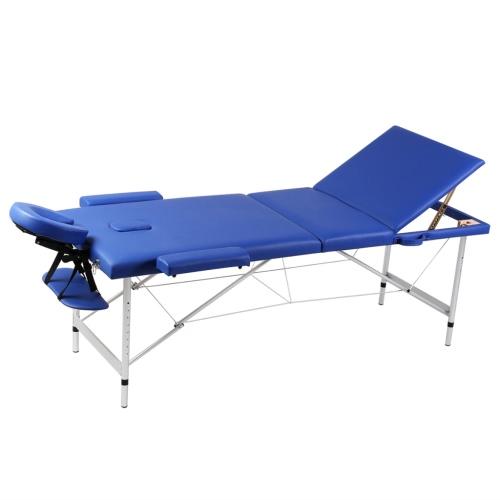 Folding Cot Massage Blue Zone 3 with Aluminum Frame