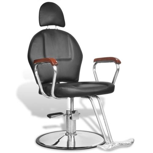 Professionelle Barber Stuhl mit Kopfstütze Kunstleder Schwarz