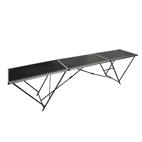 mesa de trabajo para el papel pintado de aluminio y acero