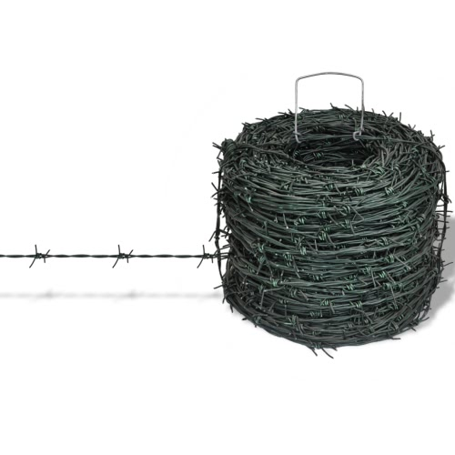 Barbed Wire Entanglement Wire Green Wire Roll 100 m