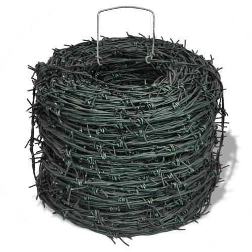 El enredo del alambre de púas de alambre de alambre verde Rollo 100 m