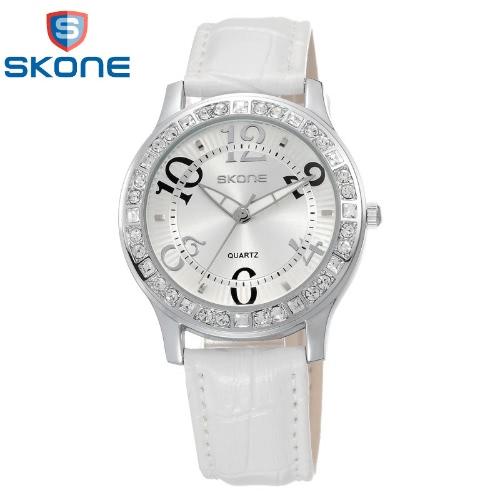 Vintage de alta calidad moda de cuarzo reloj de pulsera Bling-bling diamantes incrustados elegante reloj de mujer