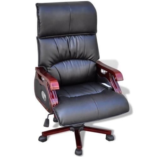 cuero ajustable función de masaje sillón de masaje 9 Negro