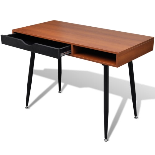 Table de travail bureau d'ordinateur, bureau, bureau Workstation brun