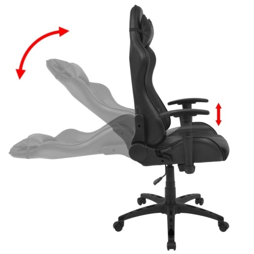 Tilting Racing Office Chair Synthetic Leather Black