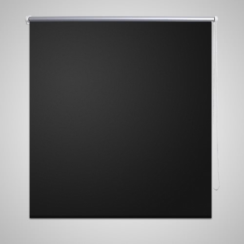 Roller Blind Blackout 120 x 175 cm Black
