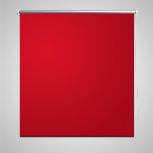 Roller Blind Blackout 80 x 230 cm Red