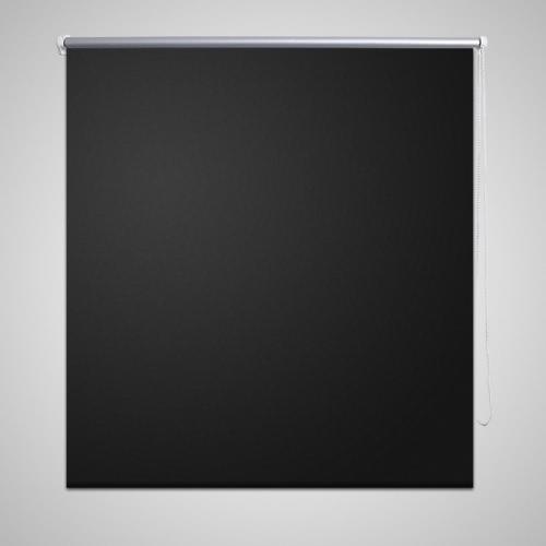 Roller Blind Blackout 100 x 230 cm Black