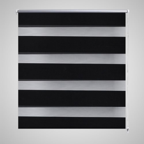 Duo tracción lateral doble ciego Rollo de 80 x 175 cm negro