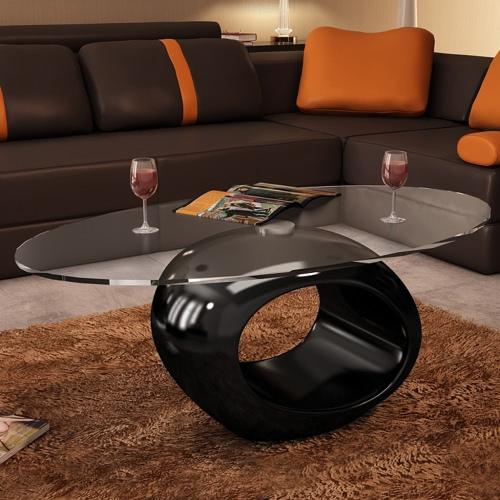 Coffee Table Round Black Beautiful