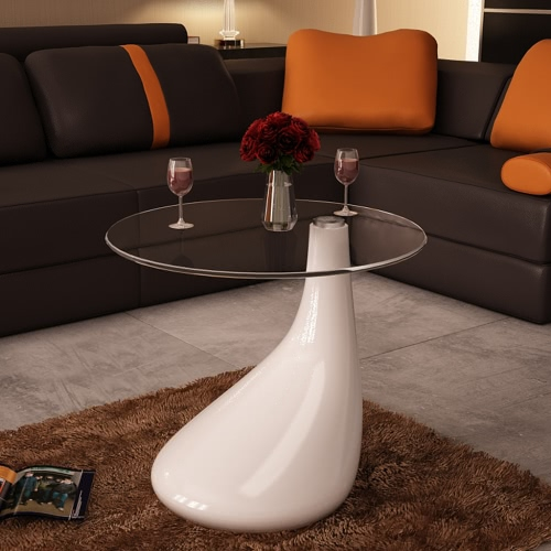 Drop Coffee Table White