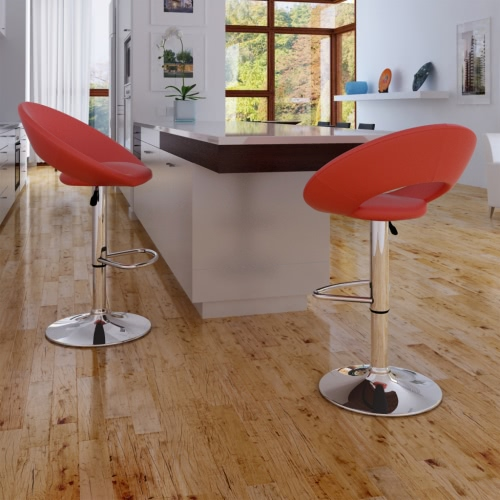 2 x cuisine Tabouret-chaise ou rouges barres
