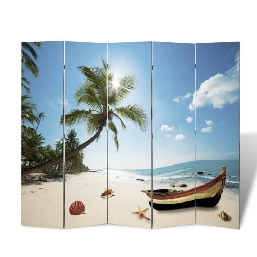Room Divider Print 200 x 180 Beach