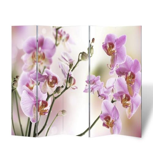 Foto-Paravent Paravent Raumteiler Blumen 200 x 180 cm