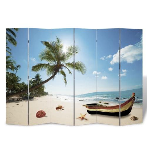 Foto-Paravent Paravent Raumteiler Strand 240 x 180 cm