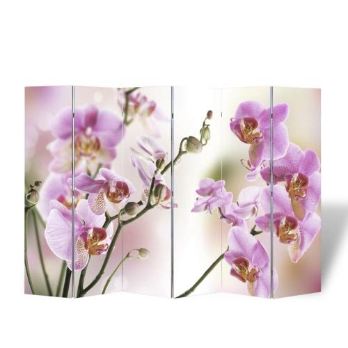 Foto-Paravent Paravent Raumteiler Blumen 240 x 180 cm