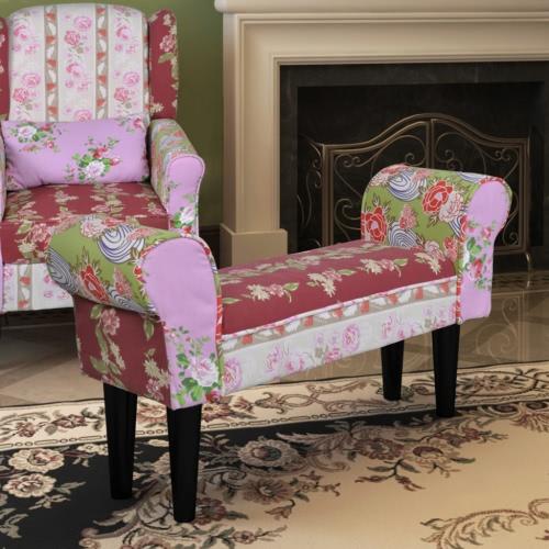 Bench Design Patchwork Sofa Pastoral Style Floral