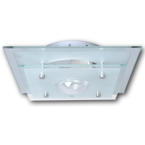 Ceiling Lamp Glass Square 1 x E27 Crystal