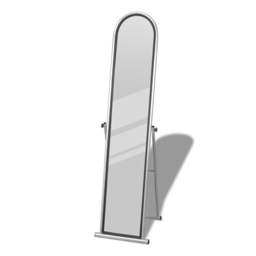 Free Standing Floor Mirror Full Length Rectangular Grey