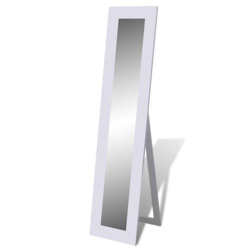 Boden Stehend Spiegel Standspiegel Ganzkörperansicht Weiß