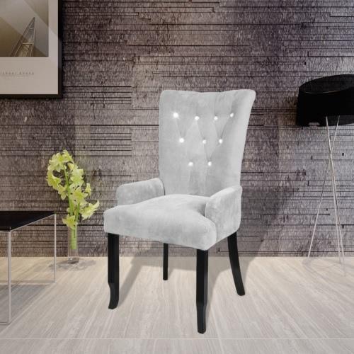 Sillón reclinable silla tapizada de plata silla