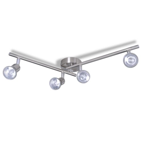 4-HALOGEN Spots Satin Nickel Ceiling Light