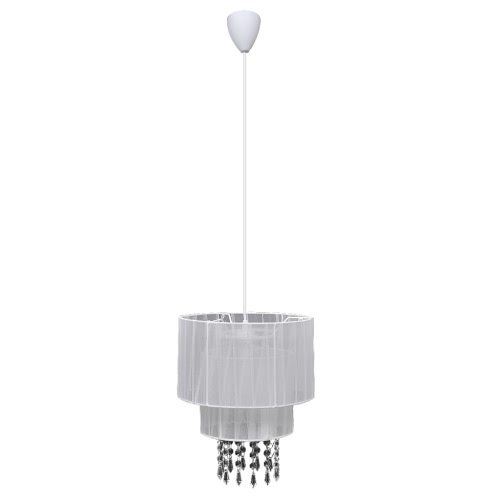 Pendant Ceiling Lamp Chandelier Crystal White