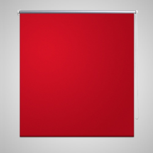 Roller Blind Blackout 60 x 120 cm Red