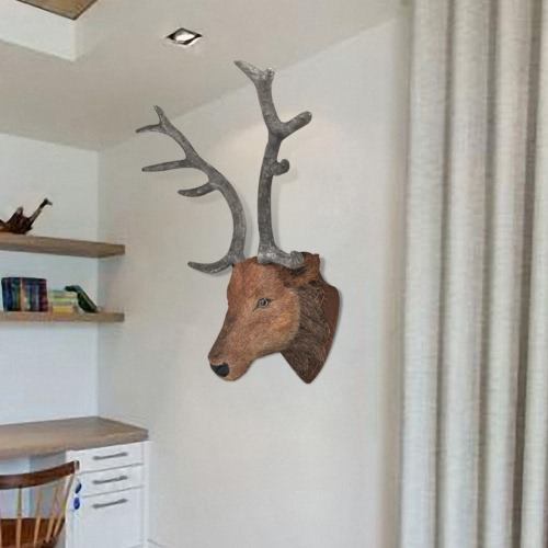 Poroże jelenia głowa Oczywiście dekoracja ścienna