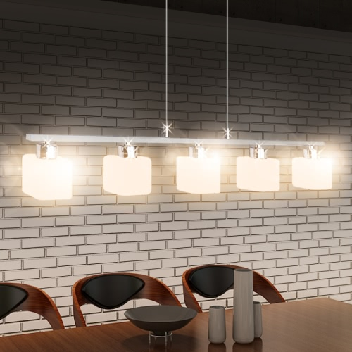 LED Hanging lamp Glass 80 cm Warm White 5 x 3 W