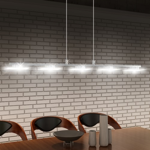 LED Hanging lamp Acrylic 100 cm Warm White 5 x 5 W