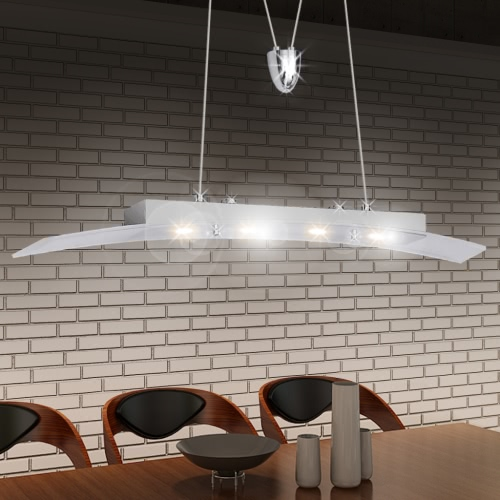 LED Hanging lamp Acrylic 80 cm Warm White 4 x 5 W