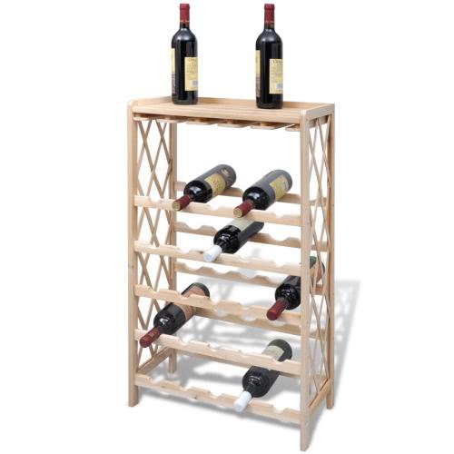casier à vin en bois pour 25 bouteilles