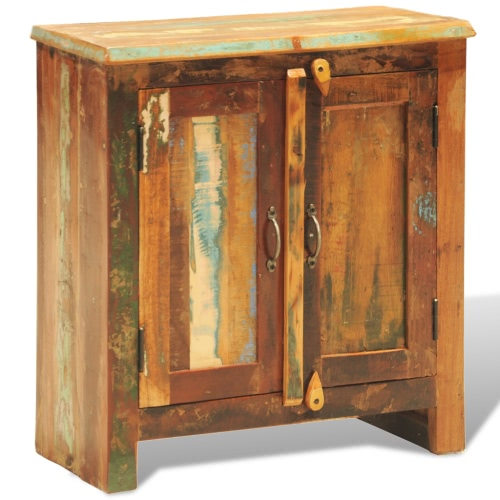 Reclaimed Wood Cabinet with Two Doors Vintage Antique-style