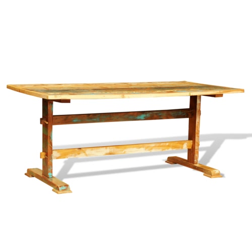 Reclaimed Wood Dining Table Vintage Antique-style