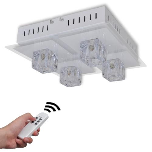 lámpara de techo de la lámpara LED de la sala de estar RGB 4 pantallas de lámparas