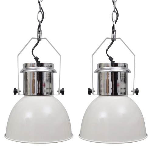 Lampe suspension Lampe suspension plafonnier contemporain blanc 2 pcs.