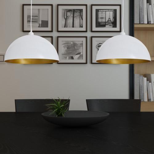 lampa sufitowa lampa wisząca stołem lampa wisząca biały 2 szt.