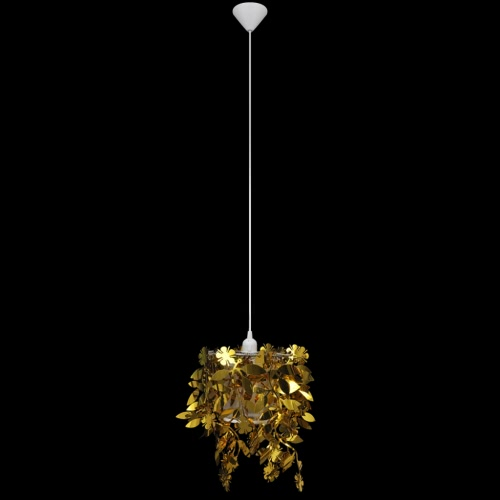 Leaves Paillette Pendant Chandelier Lamp 21,5 x 30 cm Gold