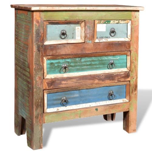Dresser шкаф из массива дерева Тик Античная с 4-мя ящиками