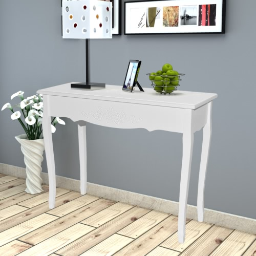 Table console Table console dressing blanc