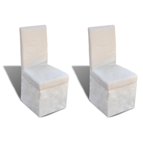 silla de la cocina con crema blanca de la cubierta 2 PC.
