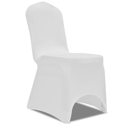 50 x Chaise Couverture stretch blanc