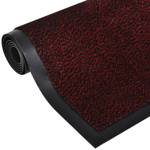 Felpudo felpudo deslizamiento rectangular de 90 x 60 cm rojo