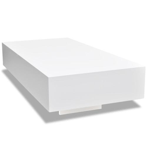 Белый глянцевый журнальный столик 115 см