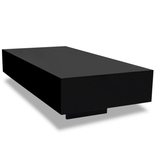 Noir brillant table basse 115 cm