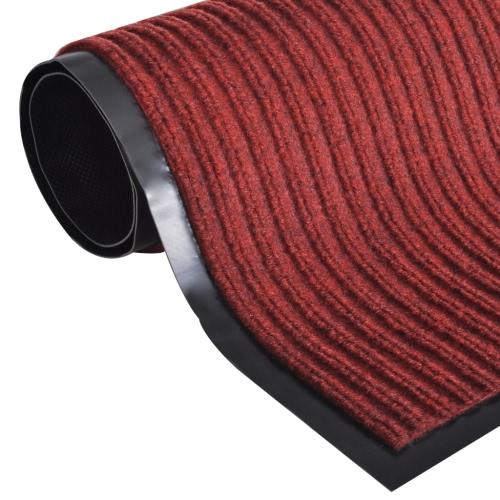 Red PVC felpudo 90 x 60 cm